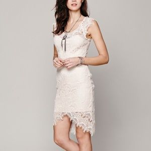 Free People peek a boo lace dress
